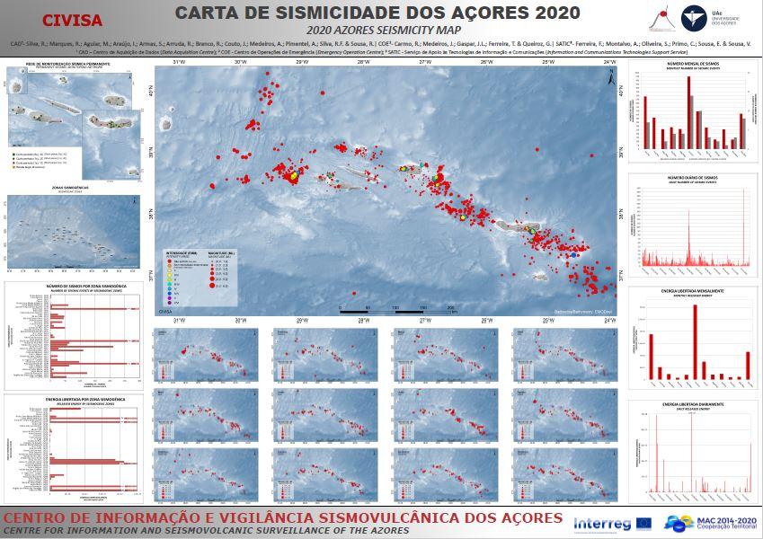 Mapa de sismicidade 2020
